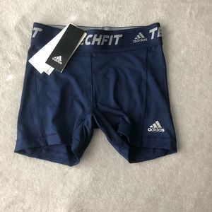 navy blue techfit athletic shorts size xs